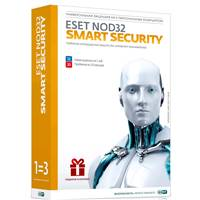 П.О. ESET NOD32 BOX Smart Security (1год на 3ПК) + Bonus + расш. функционал (DRNOD32ESS1220BOX11)