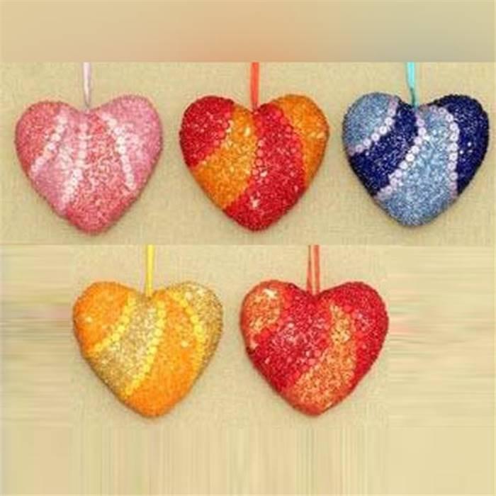 Декор сердец из пенопласта